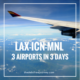 LAX-ICN-MNL 3 AIRPORTS IN 3 DAYS