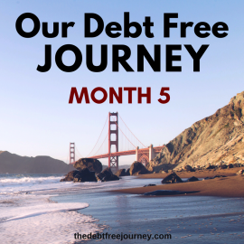 OUR DEBT FREE JOURNEY MONTH 5