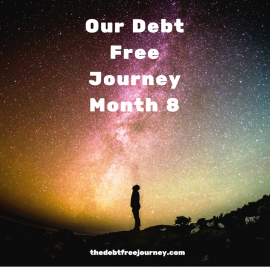 OUR DEBT FREE JOURNEY MONTH 8